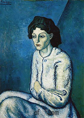 Woman with Crossed Arms, c.1901/02 | Picasso | Gemälde Reproduktion