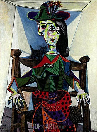 Dora Maar with Cat, 1941 | Picasso | Painting Reproduction