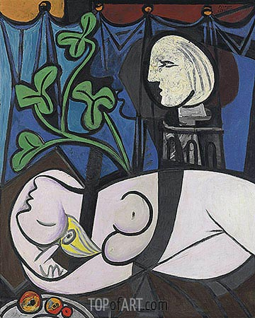 Nude, Green Leaves and Bust, 1932 | Picasso | Painting Reproduction