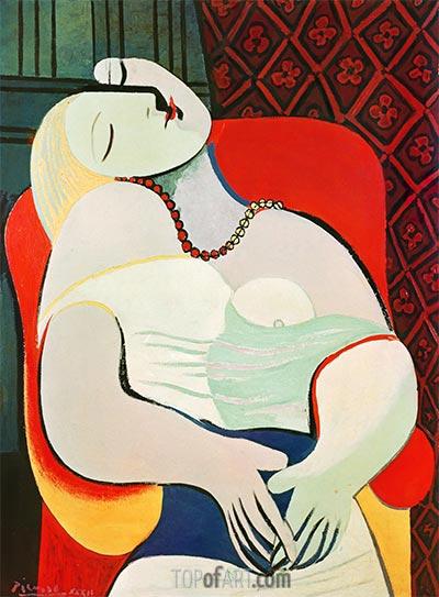 Der Traum, 1932 | Picasso | Gemälde Reproduktion