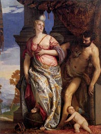 Allegory of Wisdom and Strength, c.1580 by Veronese | Painting Reproduction