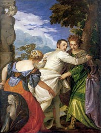 Allegory of Virtue and Vice (Choice of Hercules), c.1580 von Veronese | Gemälde-Reproduktion