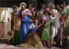 Christ addressing a Kneeling Woman (The Conversion of Mary Magdalene), a.1546 by Veronese | Painting Reproduction
