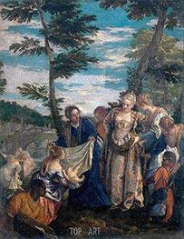 Moses gerettet aus den Gewässern, c.1580 von Veronese | Gemälde-Reproduktion