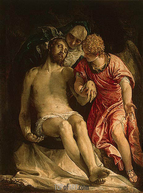 The Lamentation (Pieta), c.1576/82 | Veronese | Painting Reproduction