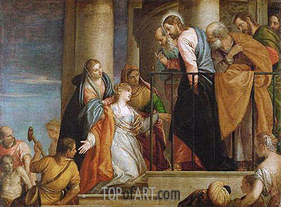 Raising of the Widow's Son of Nain, c.1565/70 | Veronese | Painting Reproduction