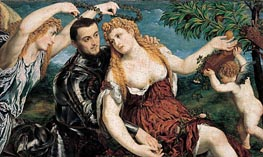 Allegory with Lovers, 1550 von Paris Bordone | Gemälde-Reproduktion