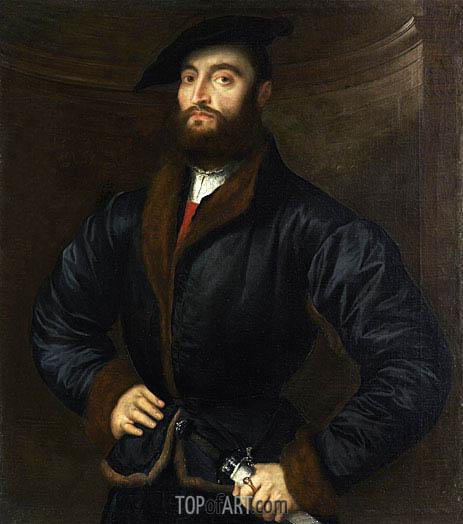 Paris Bordone | Portrait of a Bearded Man, 1533