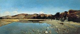 Das Dorf Saint-Paul am Ufer der Durance, 1865 von Paul-Camille Guigou | Gemälde-Reproduktion