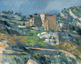 Houses in Provence the Riaux Valley near L'Estaque, c.1880 by Cezanne | Painting Reproduction