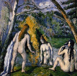 Three Bathers | Cezanne | Painting Reproduction