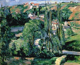 Jalais Hill, Pontoise, c.1879/80 von Cezanne | Gemälde-Reproduktion