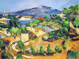 Mountains in Provence (L'Estaque) | Cezanne | Painting Reproduction