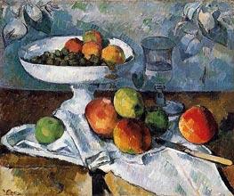 Stillleben mit Obstschale, c.1879/80 von Cezanne | Gemälde-Reproduktion