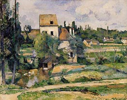 Mill on the Couleuvre at Pontoise, 1881 by Cezanne | Painting Reproduction