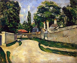 Houses along a Road, c.1881 by Cezanne | Painting Reproduction