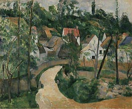 Turn in the Road, c.1881 by Cezanne | Painting Reproduction