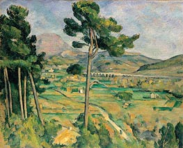 Mont Sainte-Victoire and the Viaduct of the Arc River Valley | Cezanne | Painting Reproduction