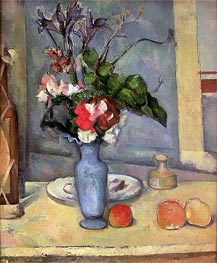 The Blue Vase, c.1883/87 by Cezanne | Painting Reproduction