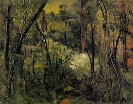 In the Woods | Cezanne | Painting Reproduction