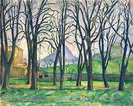 Chestnut Trees at Jas de Bouffan, c.1885/86 by Cezanne | Painting Reproduction