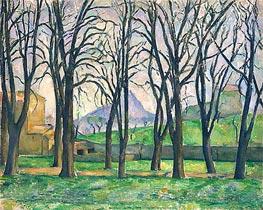 Chestnut Trees at Jas de Bouffan | Cezanne | Painting Reproduction