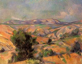 Mont Sainte-Victoire Seen from Gardanne | Cezanne | Painting Reproduction