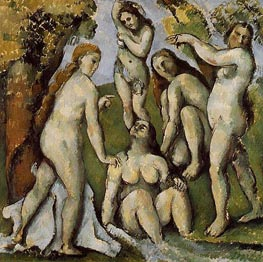 Five Bathers, c.1885/87 by Cezanne | Painting Reproduction