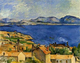 The Gulf of Marseille Seen from L'Estaque, c.1885 by Cezanne | Painting Reproduction