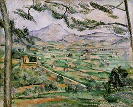 Mont Sainte-Victoire with Large Pine, c.1886/87 by Cezanne | Painting Reproduction