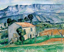 House in Provence, c.1886/90 by Cezanne | Painting Reproduction