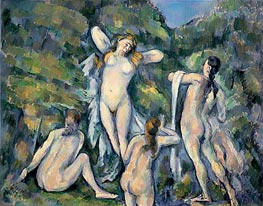 Four Bathers, c.1888/90 by Cezanne | Painting Reproduction