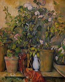 Potted Plants, c.1888/90 by Cezanne | Painting Reproduction