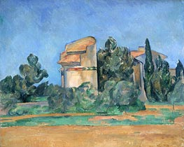 The Pigeon Tower at Bellevue, c.1894/96 by Cezanne | Painting Reproduction