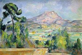 Mont Sainte-Victoire, c.1890 by Cezanne | Painting Reproduction