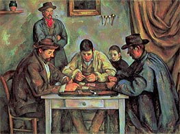 The Card Players, c.1890/92 by Cezanne | Painting Reproduction