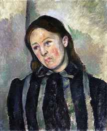 Madame Cezanne with Unbound Hair, c.1890/92 by Cezanne | Painting Reproduction