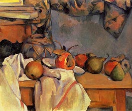 Still Life with Pomegranate and Pears, c.1890/93 by Cezanne | Painting Reproduction