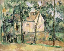 House and Trees, c.1890/94 by Cezanne | Painting Reproduction