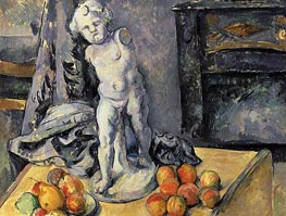 Still Life with Plaster Cupid, c.1894/95 by Cezanne | Painting Reproduction