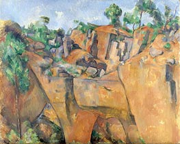 The Bibemus Quarry, c.1895 by Cezanne | Painting Reproduction