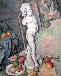Still Life with Plaster Cupid, c.1894 by Cezanne | Painting Reproduction