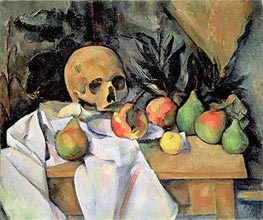 Still Life with Skull, c.1895/00 by Cezanne | Painting Reproduction