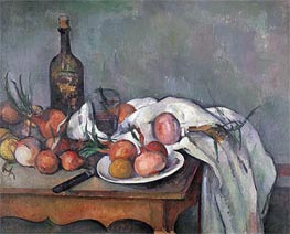 Still Life with Onions, c.1895 by Cezanne | Painting Reproduction