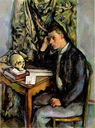 Boy with Skull, c.1896/98 by Cezanne | Painting Reproduction