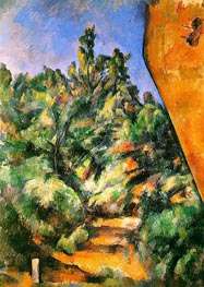 Bibemus - the Red Rock, c.1897 by Cezanne | Painting Reproduction