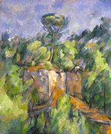 The Bibemus Quarry, c.1898/00 by Cezanne | Painting Reproduction