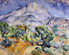 Road near Mont Sainte-Victoire, c.1896/98 by Cezanne | Painting Reproduction