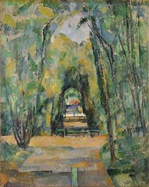 Avenue at Chantilly, 1888 by Cezanne | Painting Reproduction