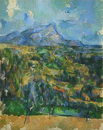 Mont Sainte-Victoire, c.1902 by Cezanne | Painting Reproduction